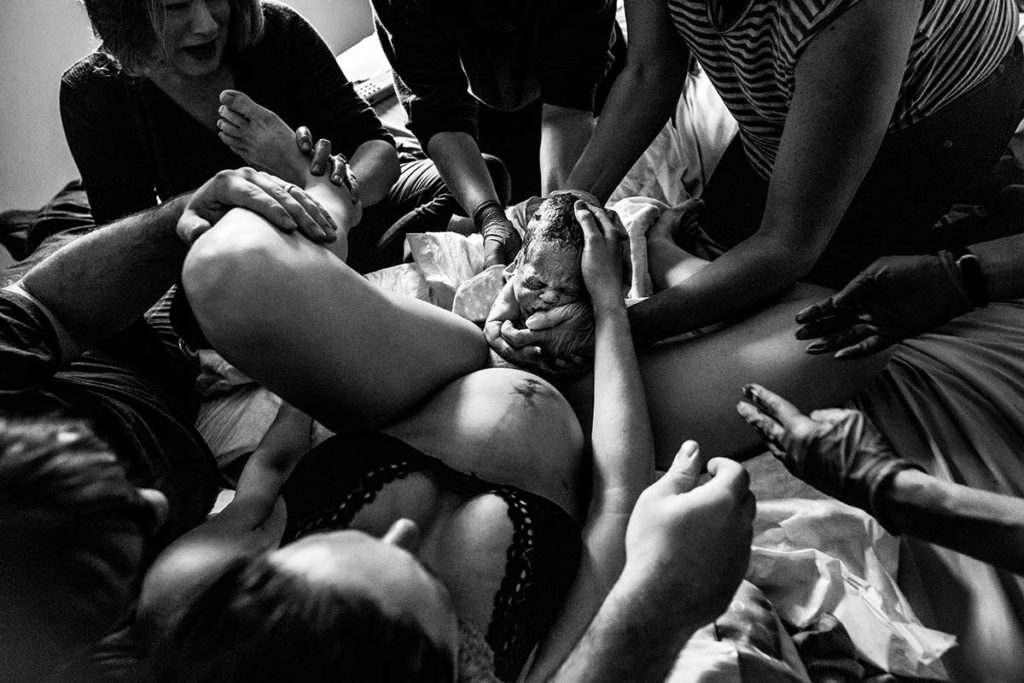 Ashley Martson's image of the birth of a girl. (Photo by Ashley Marston)