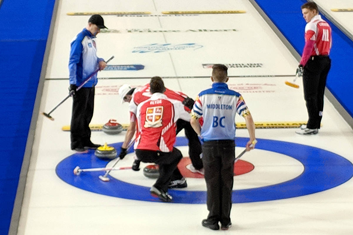 Team BC won their fourth game this morning (Monday) against the Newfoundland and Labrador team by the score of 12-4. (Anita Tardi/Special to Black Press)