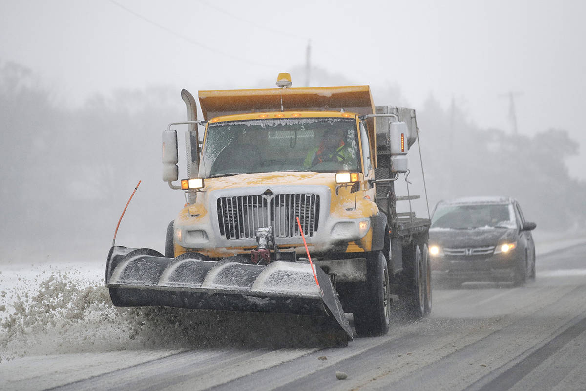 Slippery roads reported along Coquihalla