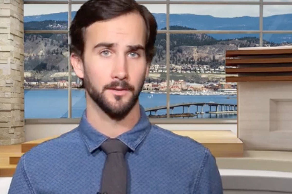 Castanet reporter Nicholas Johansen faces a criminal charge of violating a court-ordered publication ban. —Image: Youtube