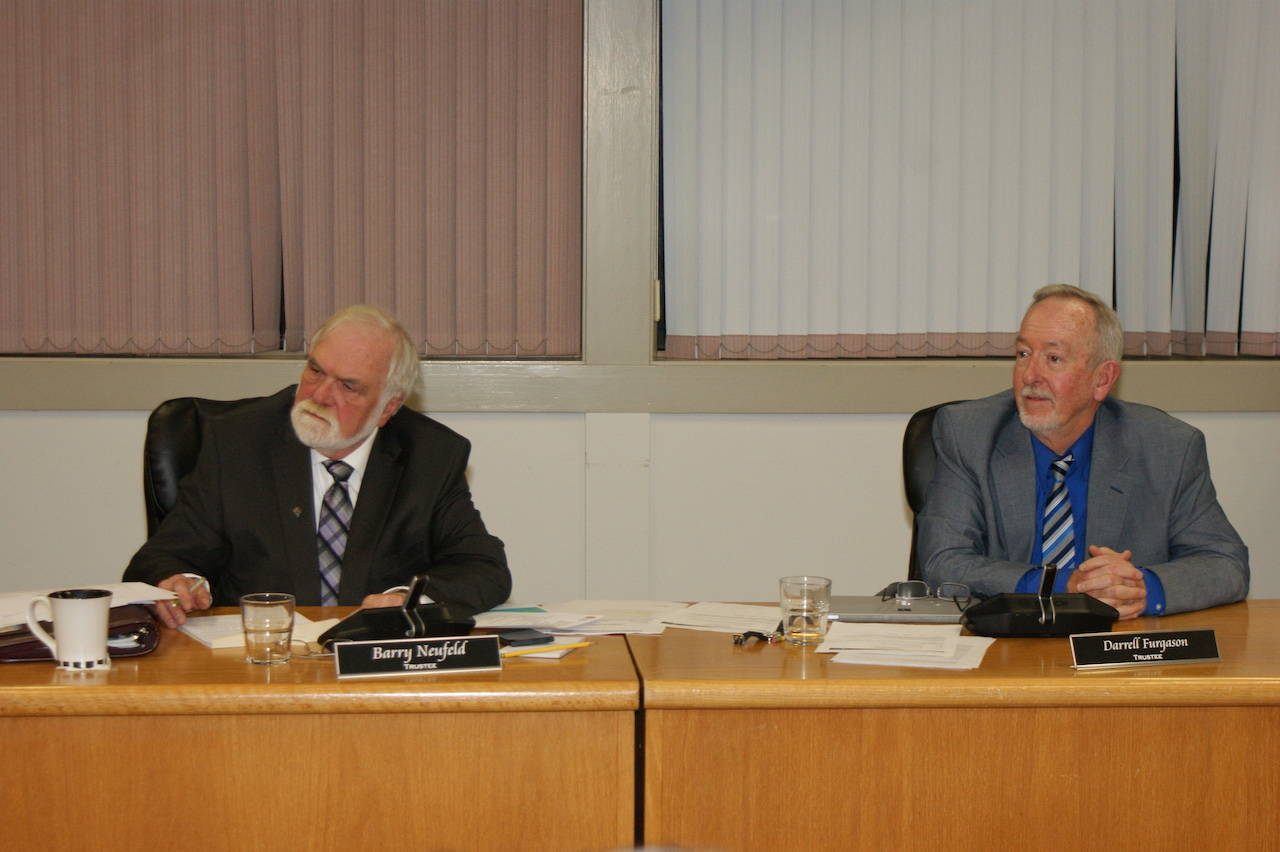 At the school board's Jan. 29 meeting, trustee Darrell Furgason put forth a motion to give trustees a 29.6-per-cent increase in salaries. (Sarah Gawdin/The Progress)