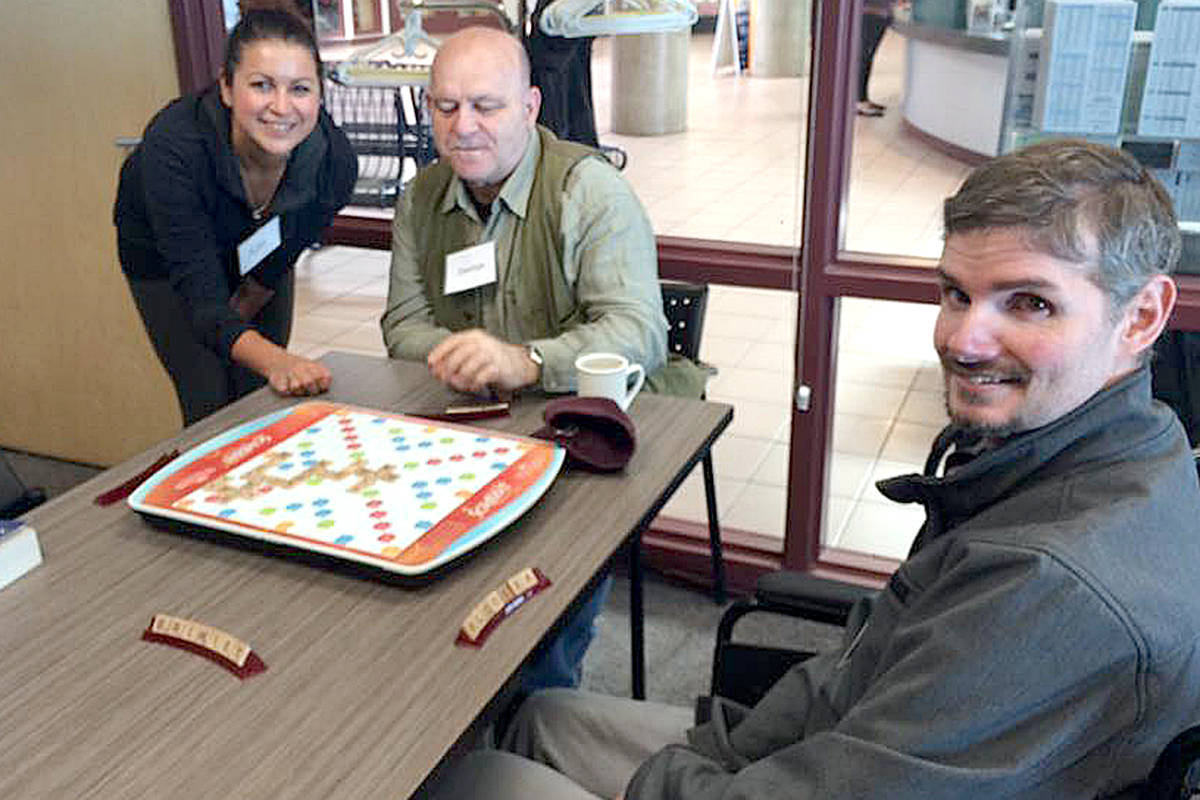 A number of stroke survivors from Langley can attest to the difference the weekly Hope After Stroke sessions at Walnut Grove Community Centre have made to their lives, including Ryan Eddy (foreground) and George Wdowicz (middle). (Special to the Langley Advance)
