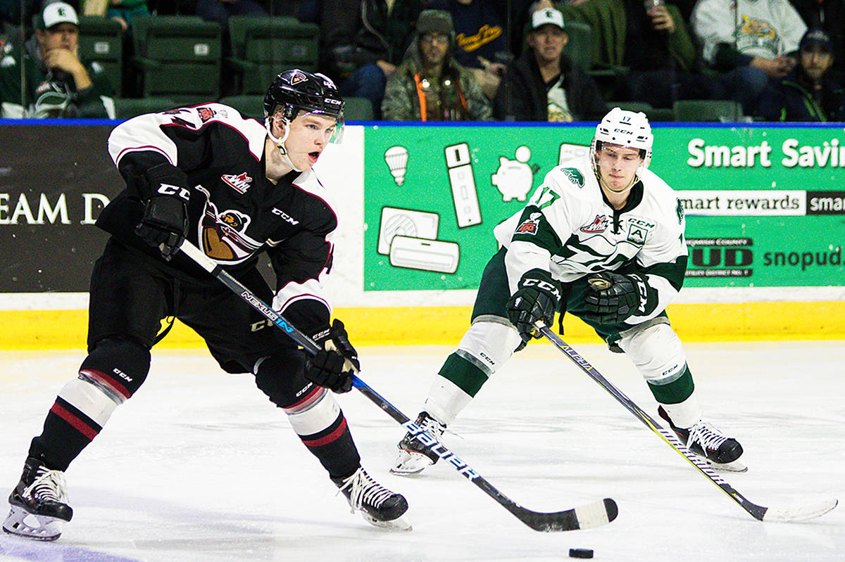 In their latest battle against the Everett Silvertips Friday night in Washington, the Langley-based Vancouver Giants emerged triumphant. (Kaitlyn Price/Special to the Langley Advance)