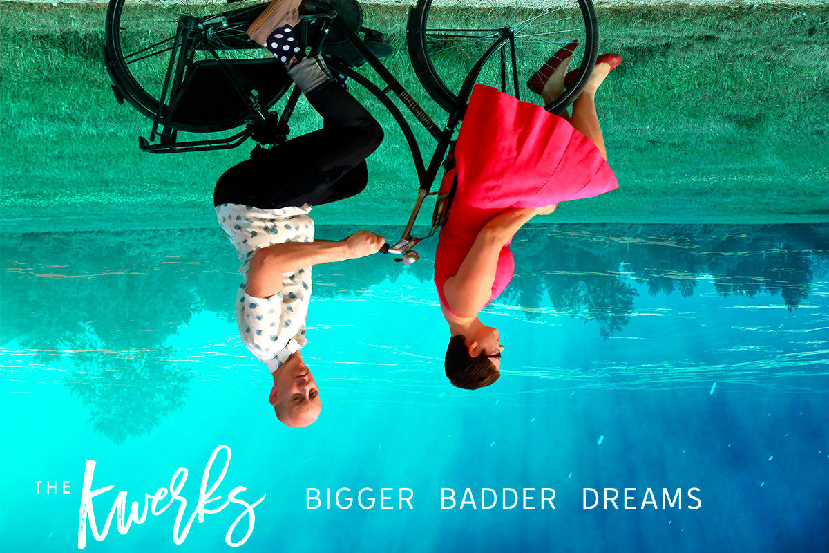 The Kwerks' newest album is kind of quirky like the band's founders Laura and Ryan Koch, pictured upside down on the album cover. (Designed by Ryan Toyota)