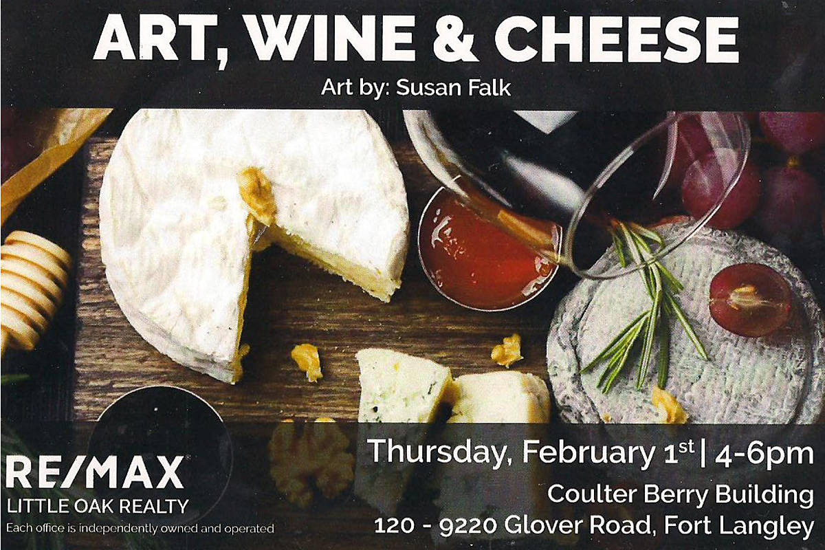 Fort Gallery is partnering in a free wine, cheese, and art event on Thursday, Feb. 1 at the Coulter Berry Building in Fort Langley. (Special to the Langley Advance)
