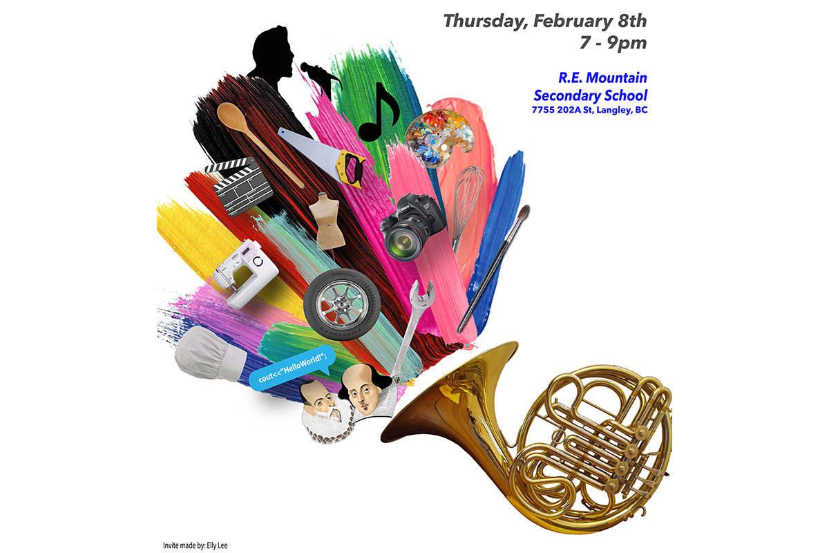 Langley high school spotlights student art at evening showcase