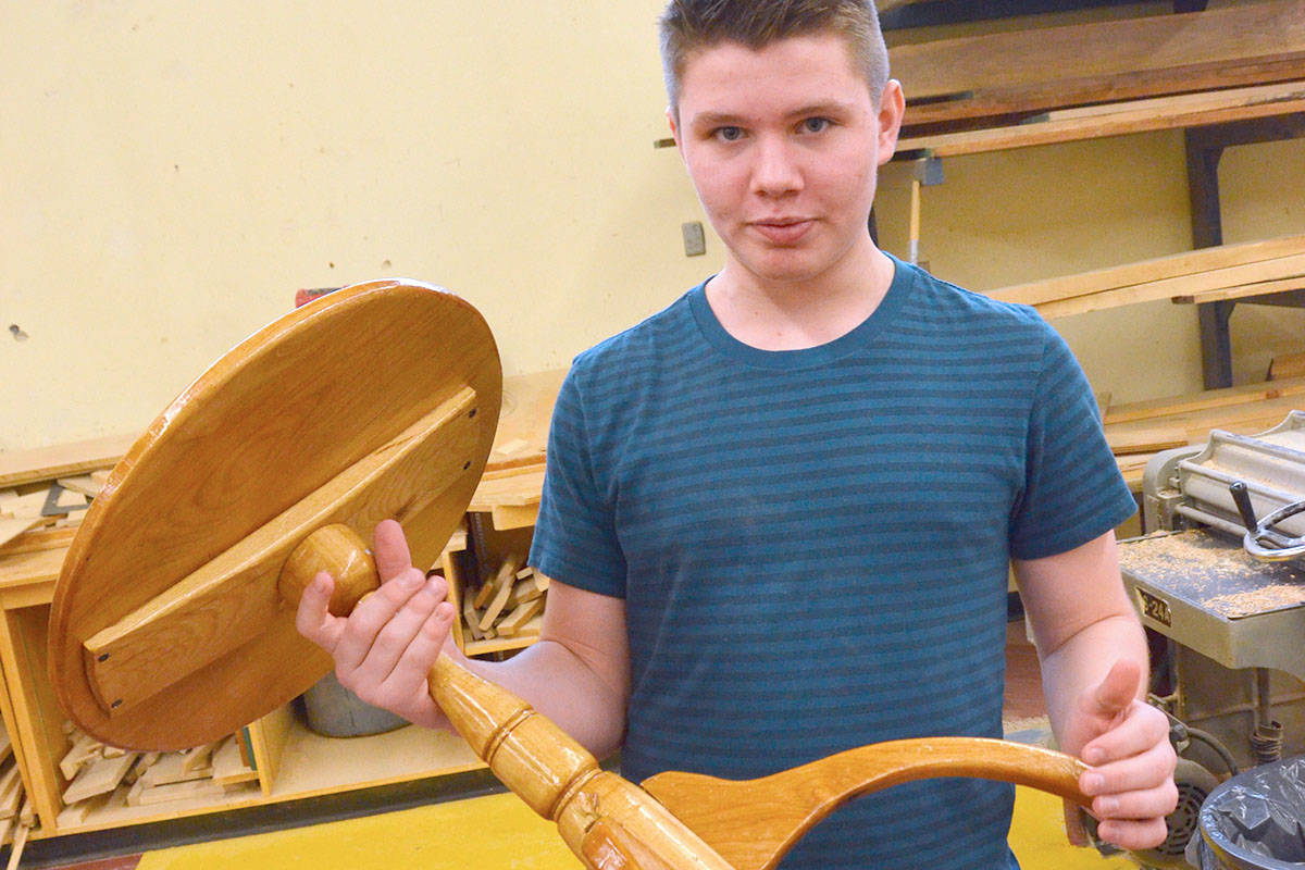 R.E. Mountain Secondary hosts Arts Incorporated every second year, giving students a chance to exhibit their projects and various skills. At the 2016 showcase, C.J. Christensen was one of the students taking part. (Langley Advance files)