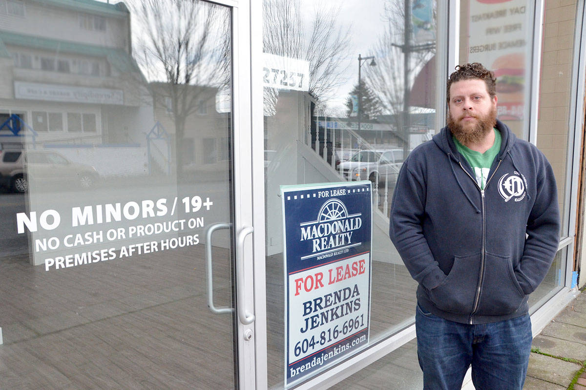 """Giovanni Romegioli of the now-closed Starbuds shop says the dispensary was """"bullied"""" out of business by Langley Township. (Matthew Claxton/Langley Advance)"""