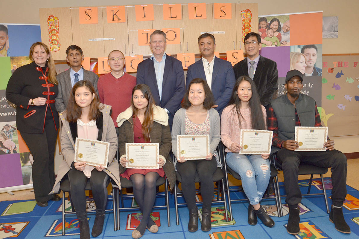Youth who took the first ever Langley session of Skills to Success were recognized with a ceremony on Feb. 16. The federal government provided funding for the Langley Community Services Society to offer the youth employment program. (Heather Colpitts/Langley Advance)