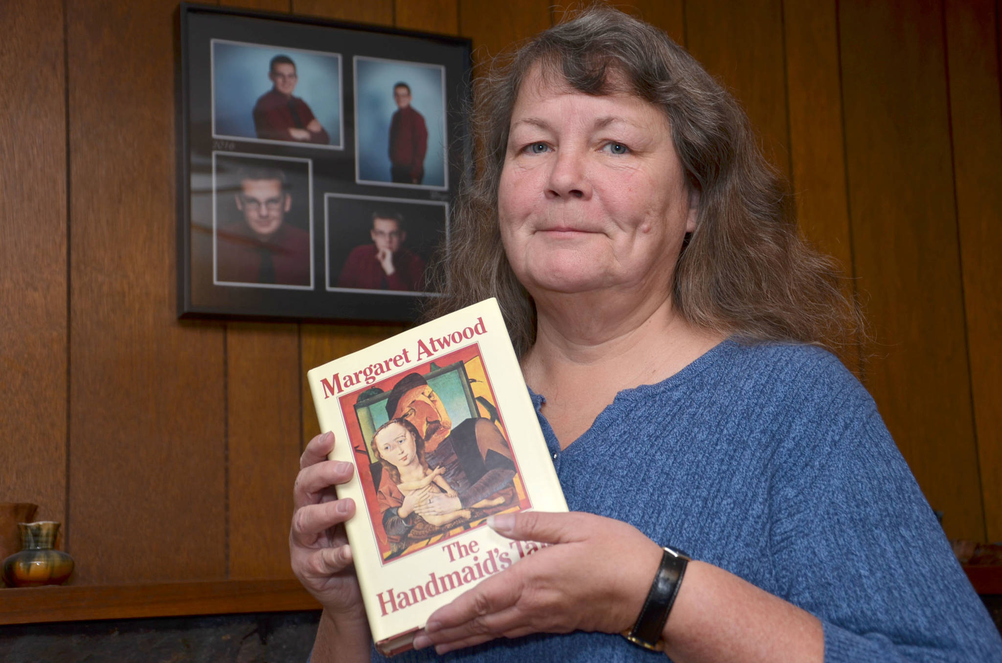 Marian Buechert has an original, autographed copy of A Handmaid's Tale and is selling it to raise money to help her late son's friend who is seriously ill. (Heather Colpitts/Langley Advance)
