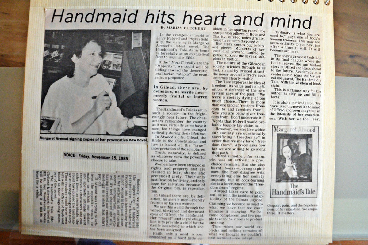 Marian Buechert was a journalism student at Langara College when she attended an event in 1985 with author Margaret Atwood on the release of A Handmaid's Tale.
