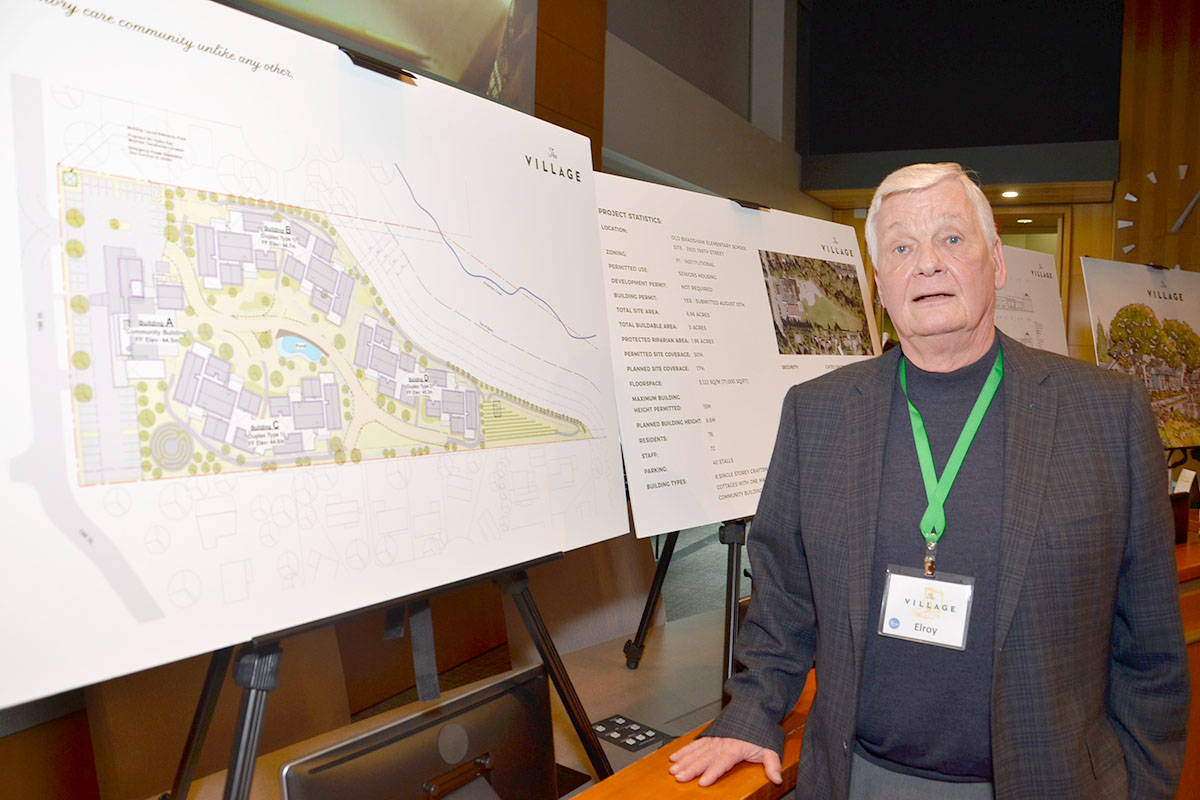 Elroy Jespersen is heading up the project called The Village which is expected to be completed in 2019. (Heather Colpitts/Langley Advance)
