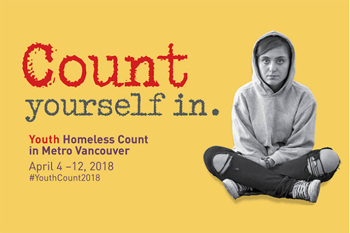 Youth homeless count events happening in Lower Mainland communities