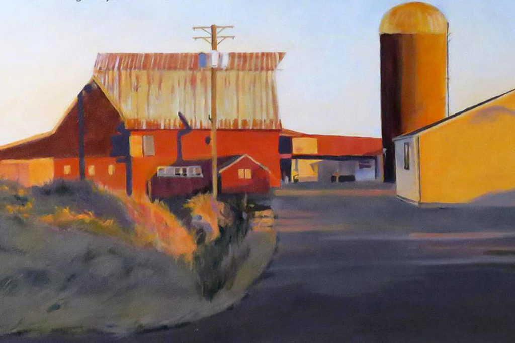 Kristin Krimmel created a series of paintings and drawings featuring barns – mainly from her backyard in the Maple Ridge and Pitt Meadows area. (Special to Black Press)