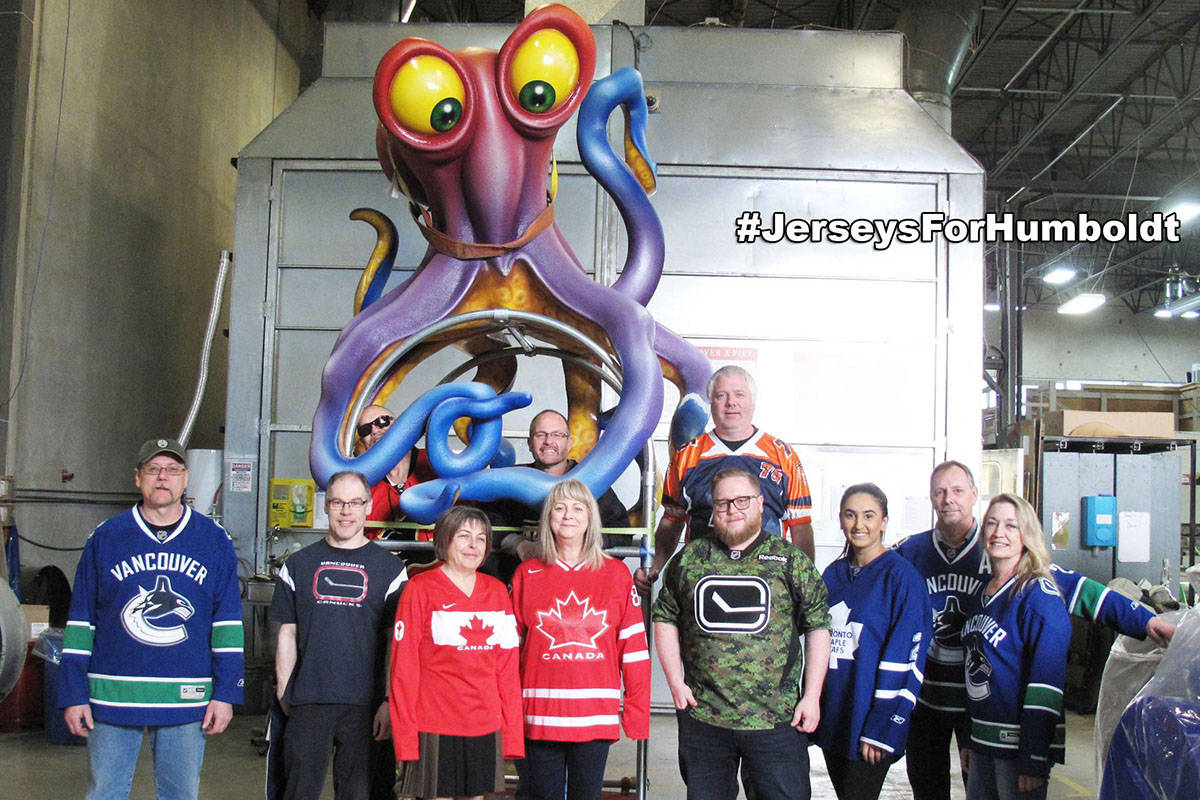 PlayCo in Langley joined the Jerseys for Humboldt campaign. (Facebook)