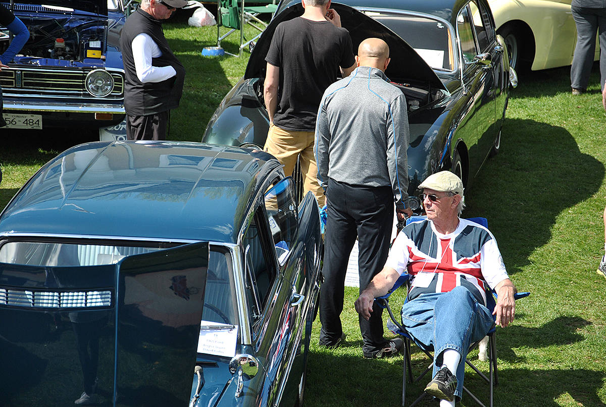 Record crowds and registrants attended Langley Area Mostly British (LAMB) Motoring Club's car show in Fort Langley Sunday. (Roxanne Hooper/Langley Advance)