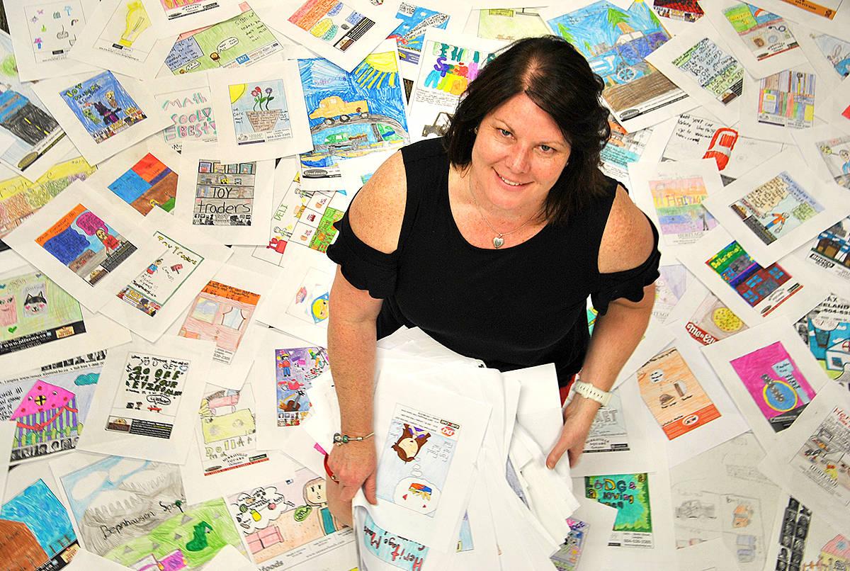 DESIGN AN AD: Langley kids' creativity pulls on heart strings