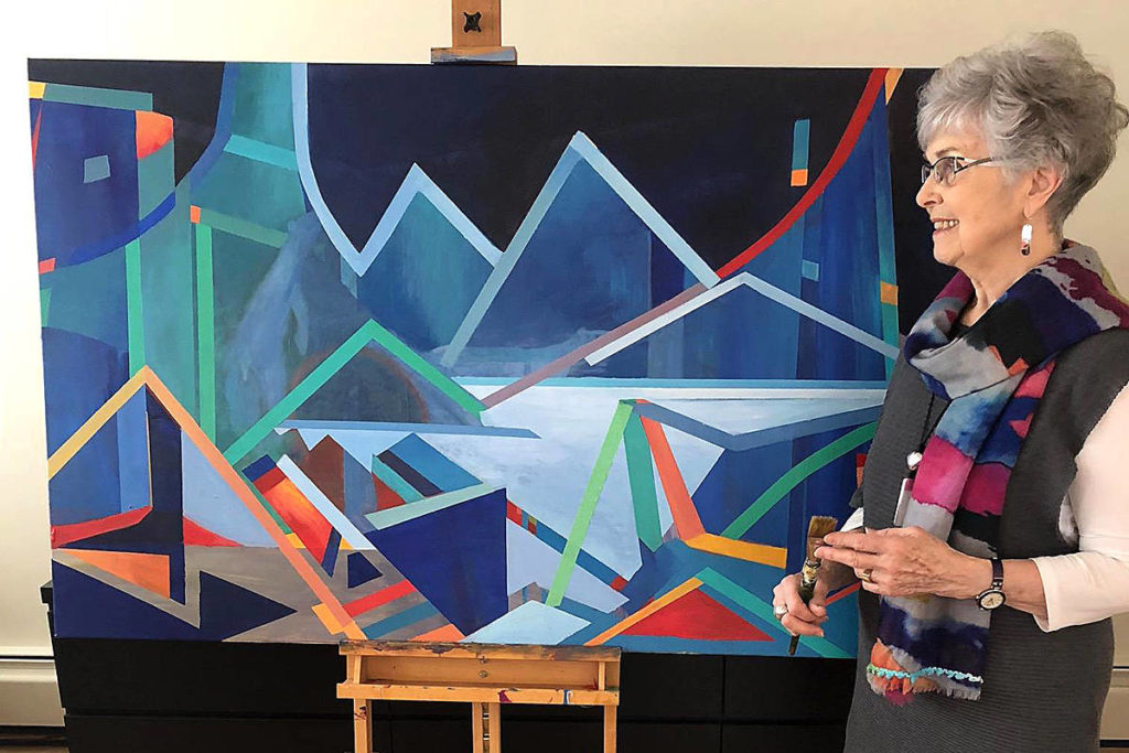 Artist Marilyn Dyer has joined forces with Susan Falk to host an exhibition at the Fort Gallery this month. It opens today, and runs until May 27. (Special to the Langley Advance)