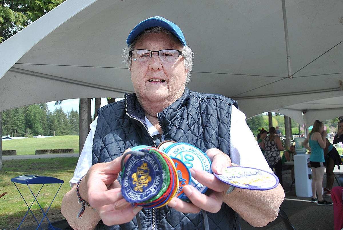 Monica Newman has been part of the Langley Walk for the past 41 years, both as a participant and more recently also helping out as a volunteer. (Roxanne Hooper/Langley Advance)