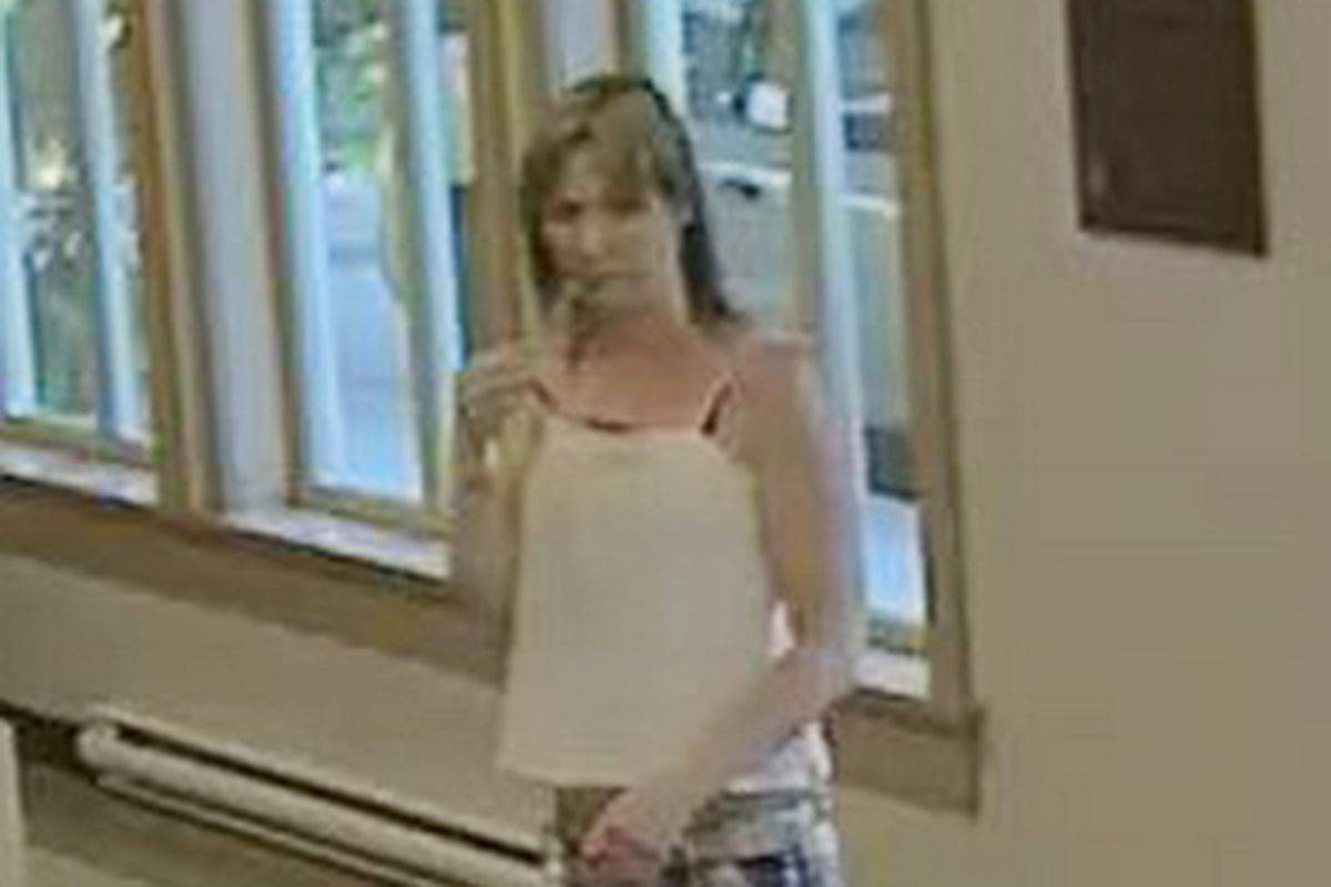 This woman allegedly took a cellphone at the LAPS animal shelter.