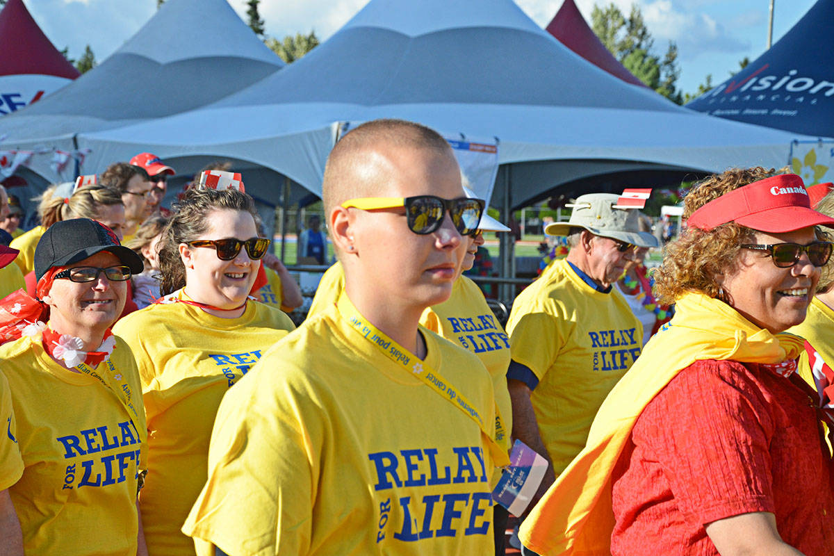 Survivors began walking the track at the start of last year's Langley Relay for Life. (Langley Advance files)