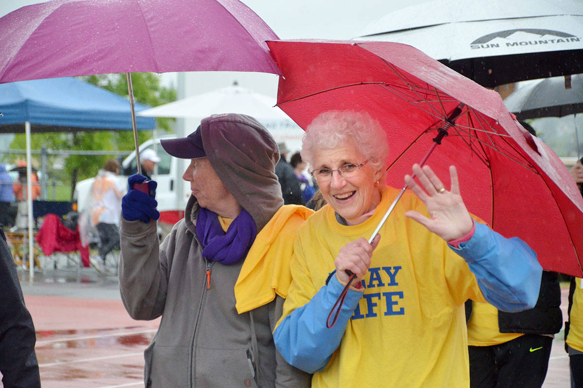 WATCH: Langley Relay for Life gets moving under grey skies
