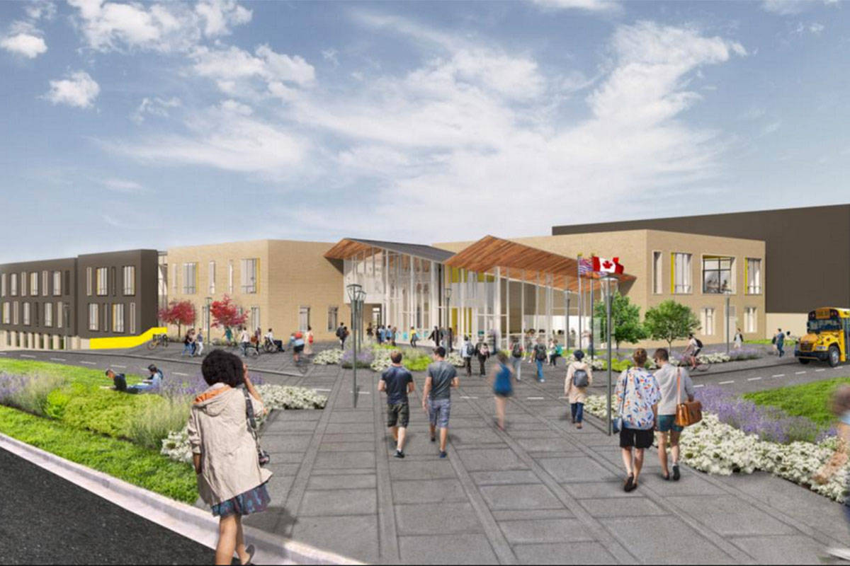 A new high school being built in Willoughby has space for 1,700 students. (Langley School District photo)