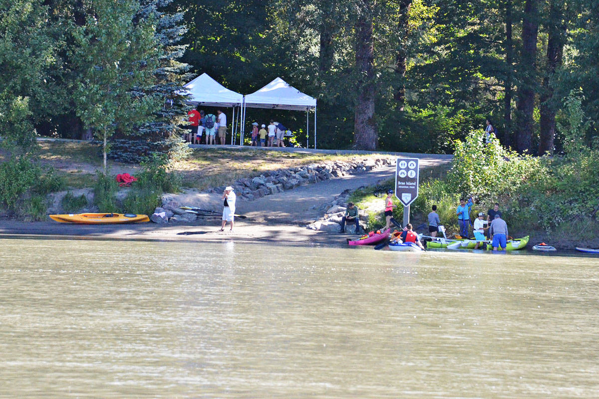 The public had the opportunity to try paddling on Bedford Channel on July 14. (Heather Colpitts/Langley Advance)
