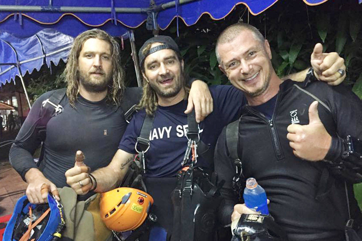 """On his Facebook page, Erik Brown wrote """"9 days. 7 missions and 63 hours inside Tham Laung Cave. Success."""""""