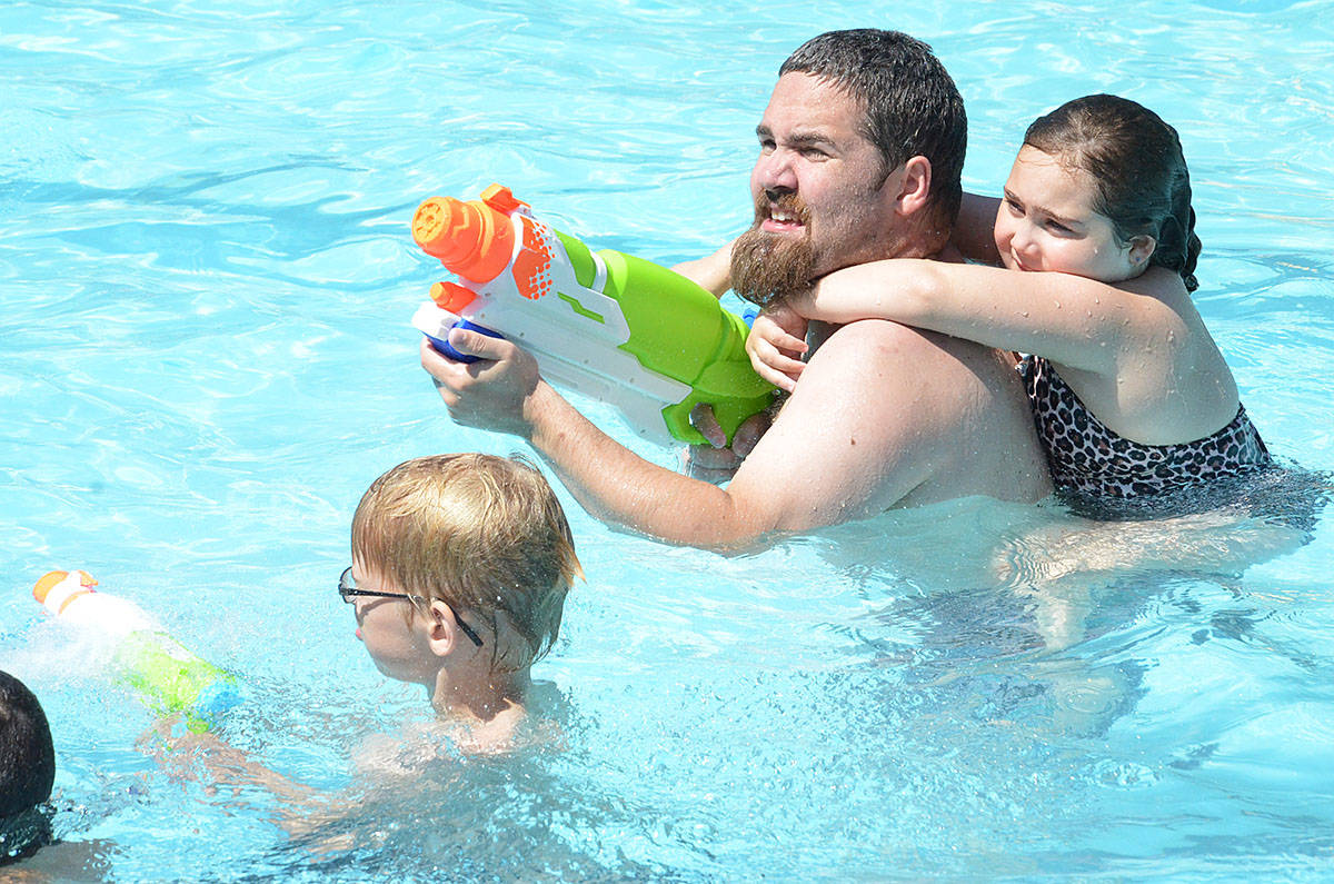 The Legendary Water Fight happens annually at the Al Anderson Memorial Pool in Langley City. (Langley Advance files)