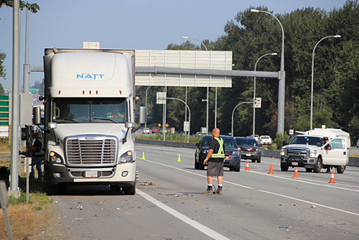 UPDATED: Freeway reopened after serious crash between Langley and