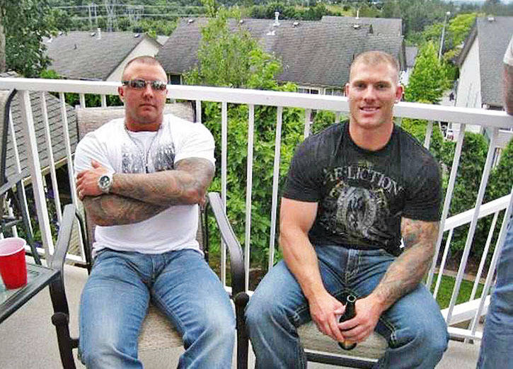 Jamie Bacon and Kevin LeClair in an undated photo