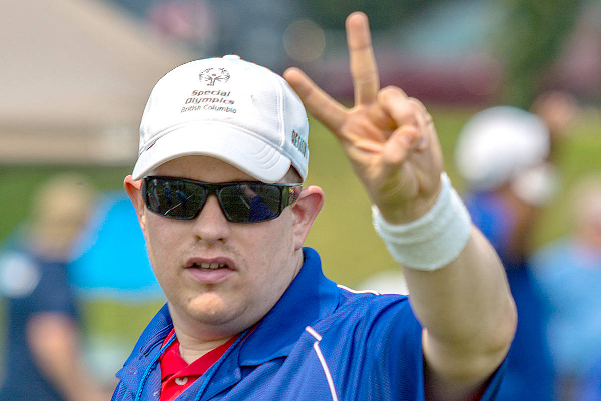 Langley bocce player Robert Carate competed in the 2017 Special Olympics BC Summer Games in Kamloops, where he earned his spot at this week's nationals. (Special Olympics British Columbia photo)