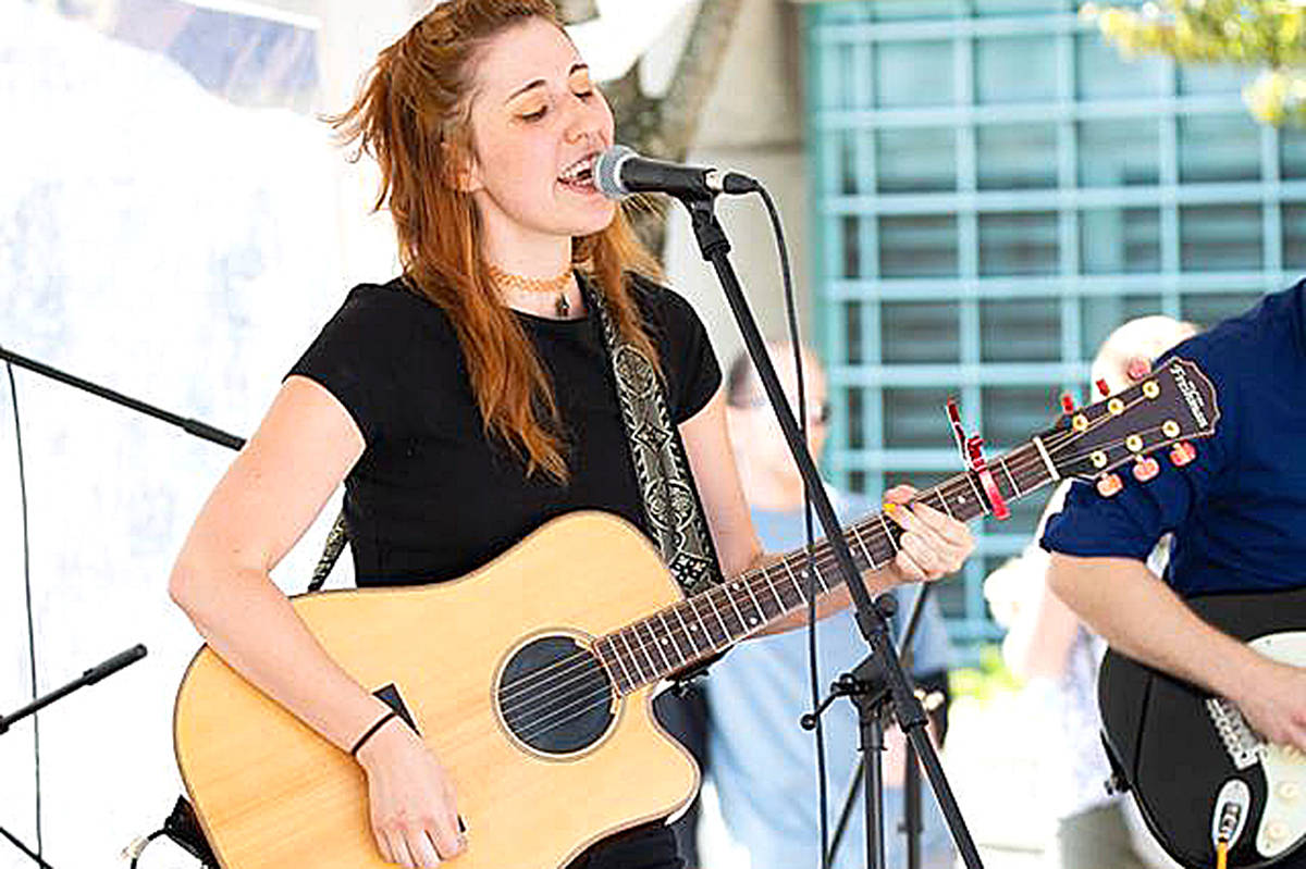 """Folksy lyrics blended with pop melodies and a unique voice spell """"success"""" for Langley singer songwriter Jessica Barbour – at least that's her hope. (Special to the Langley Advance)"""