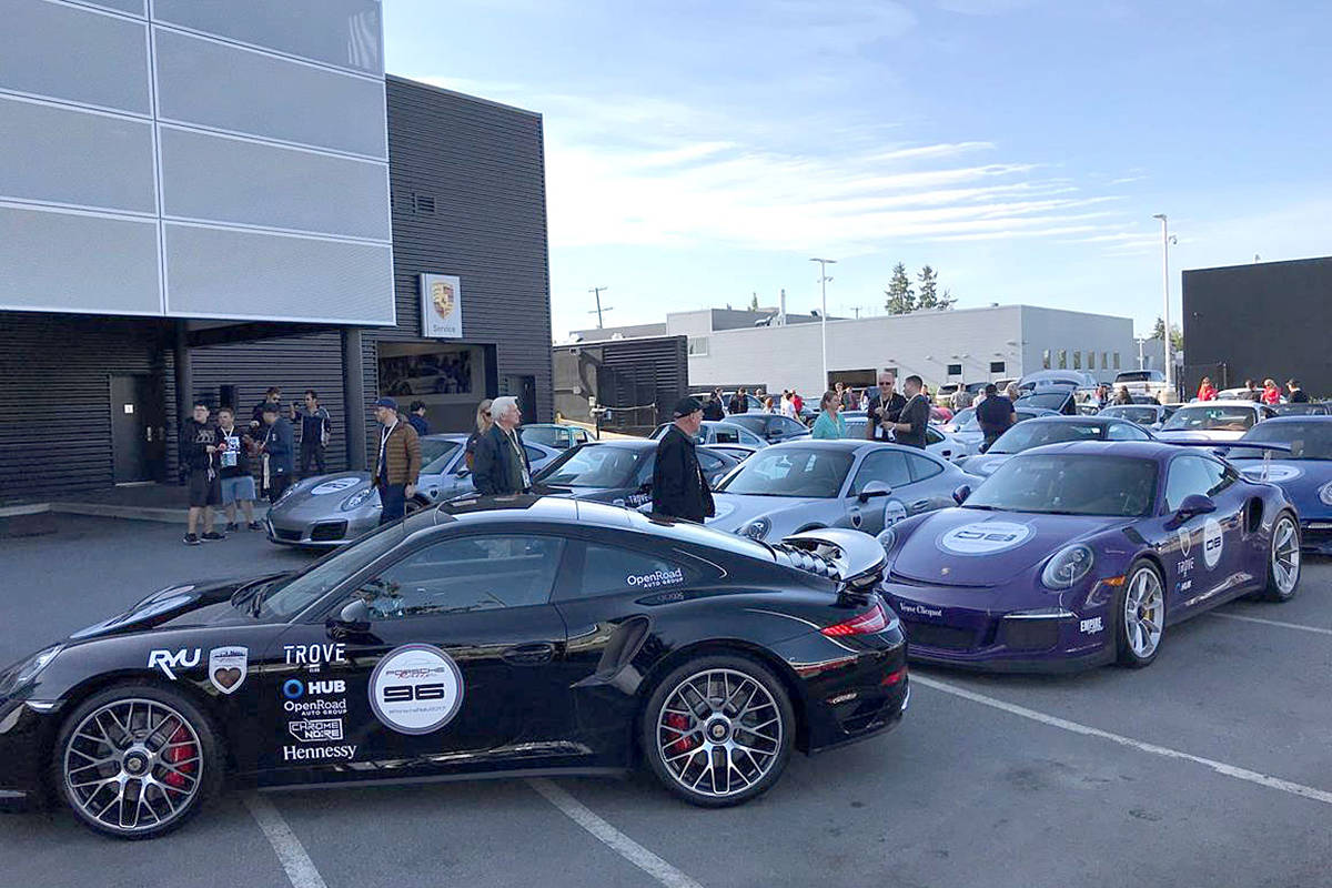 Porsche owners converge on Langley for charity rally