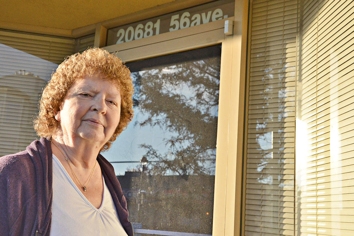 Wilma McEwan is running a poppy sales campaign in Langley even though her Branch 21 closed in the spring. The campaign will be based at 20681 56th Ave. (Heather Colpitts/Langley Advance)