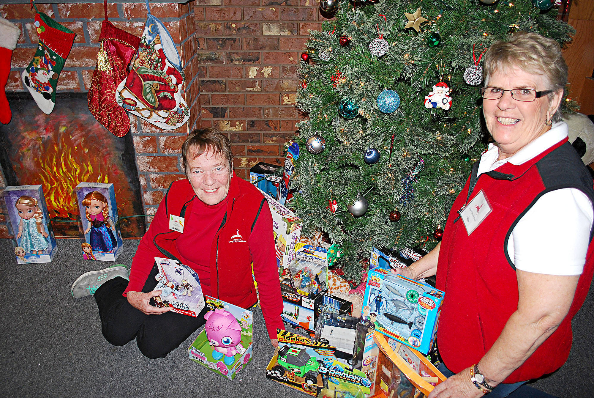 Donalda Whaites and Velma McAllister are again coordinating the Langley Christmas Bureau which has a new location, in the complex at 19860 Langley Bypass. (Langley Advance files)