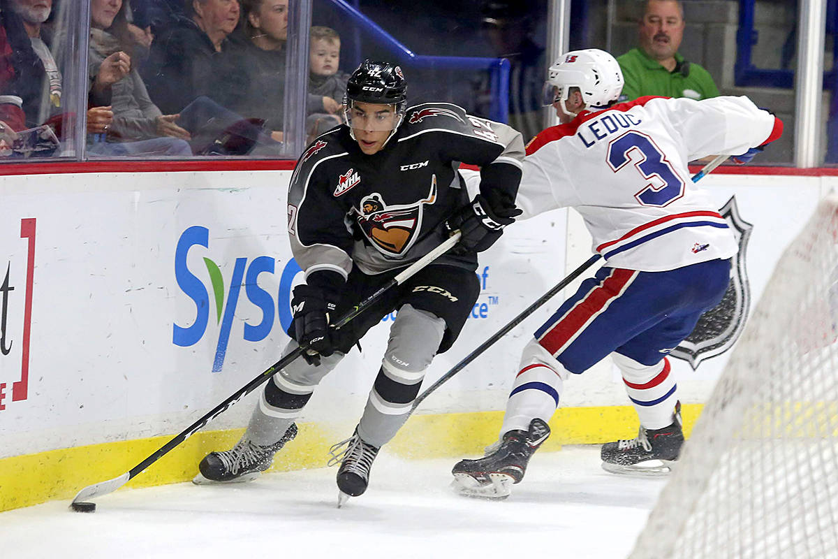 Vancouver Giant's Justin Sourdif, a young forward with the team, will be playing in the under 17 worlds in New Brunswick next month. (Vancouver Giants files/Special to Black Press)