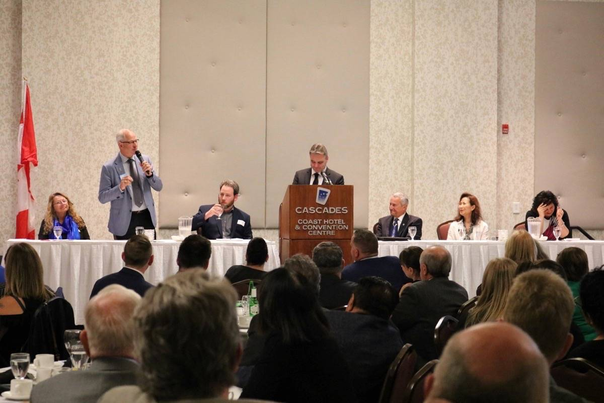 All six mayoral candidates for the Township and City of Langley were present at an all-mayoral candidates forum.
