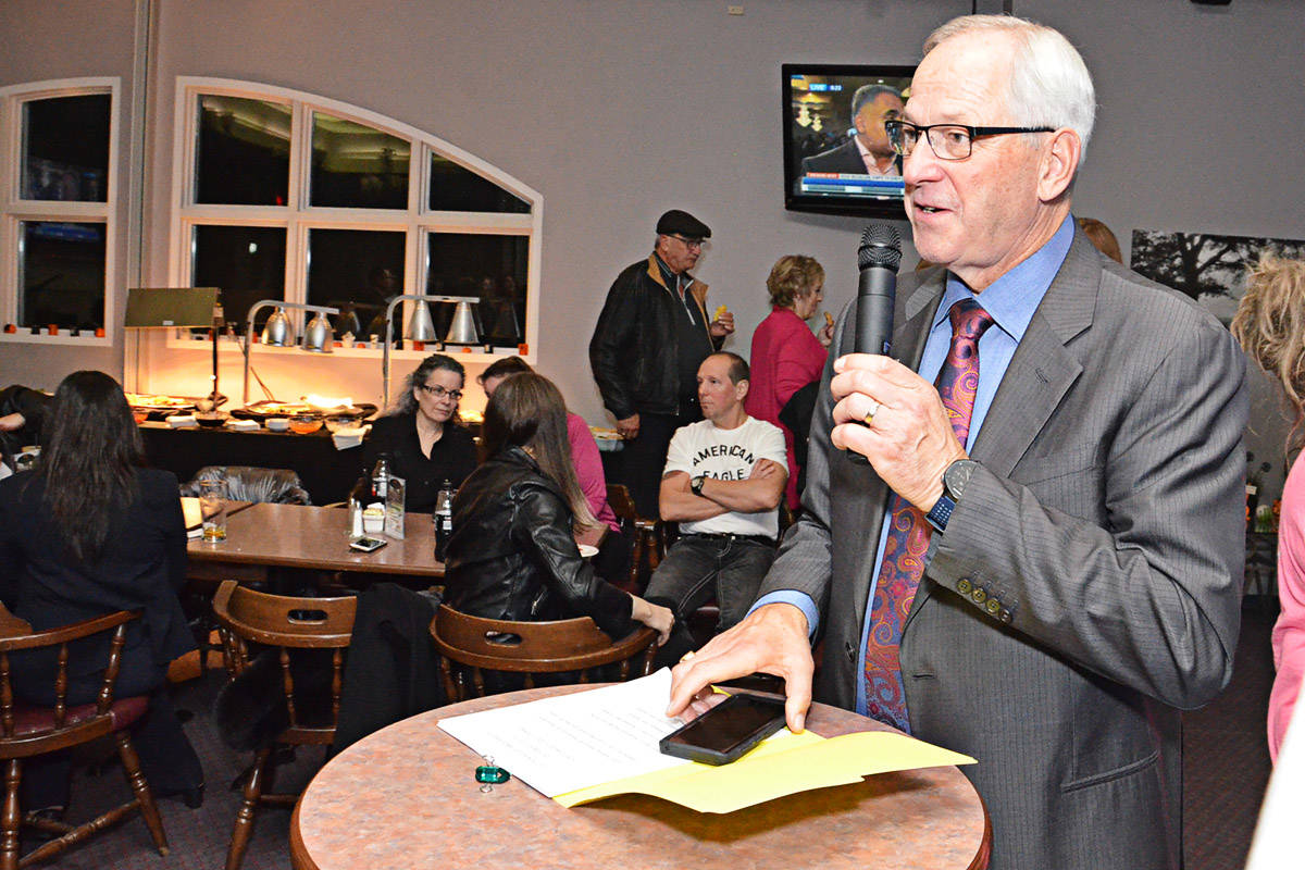 Mayor Jack Froese on election night. (Langley Advance files)