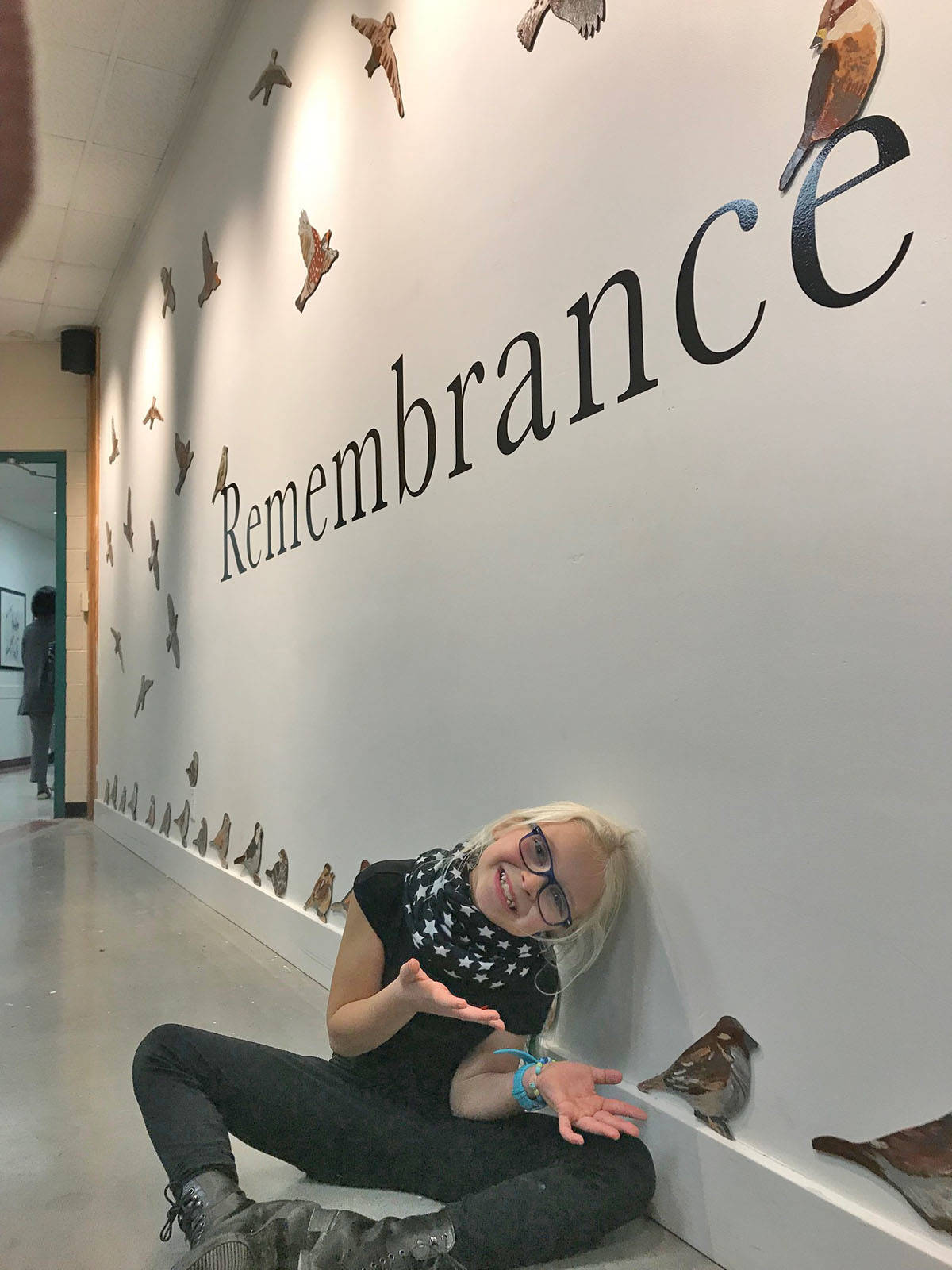 The Langley Fine Arts School opening of its Remembrance exhibition was held Nov. 7. (Teresa Porter photo)