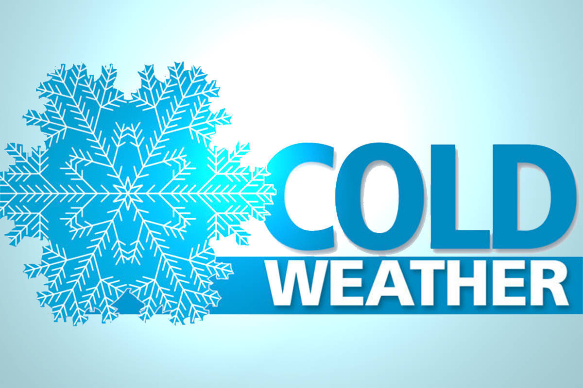 Cold weather warning issued for the Langleys