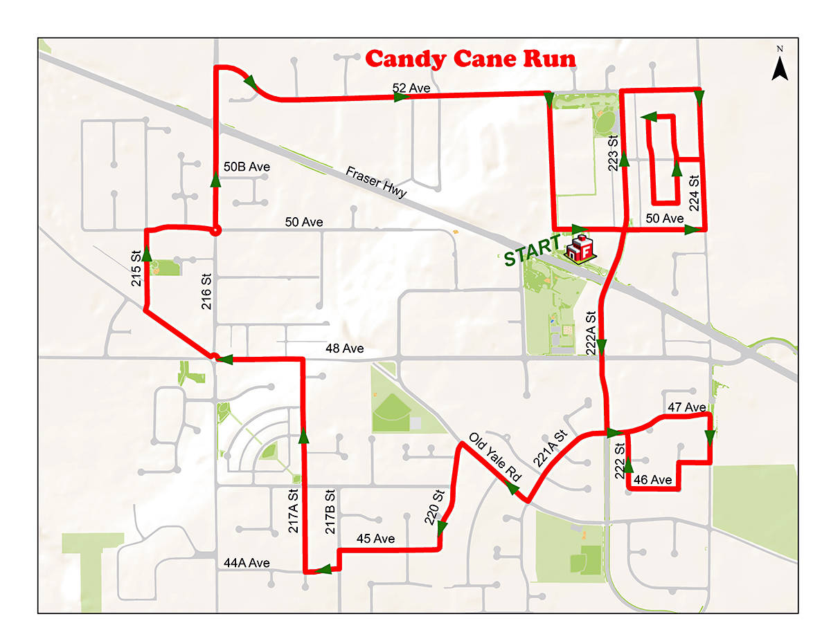 Candy Cane route.