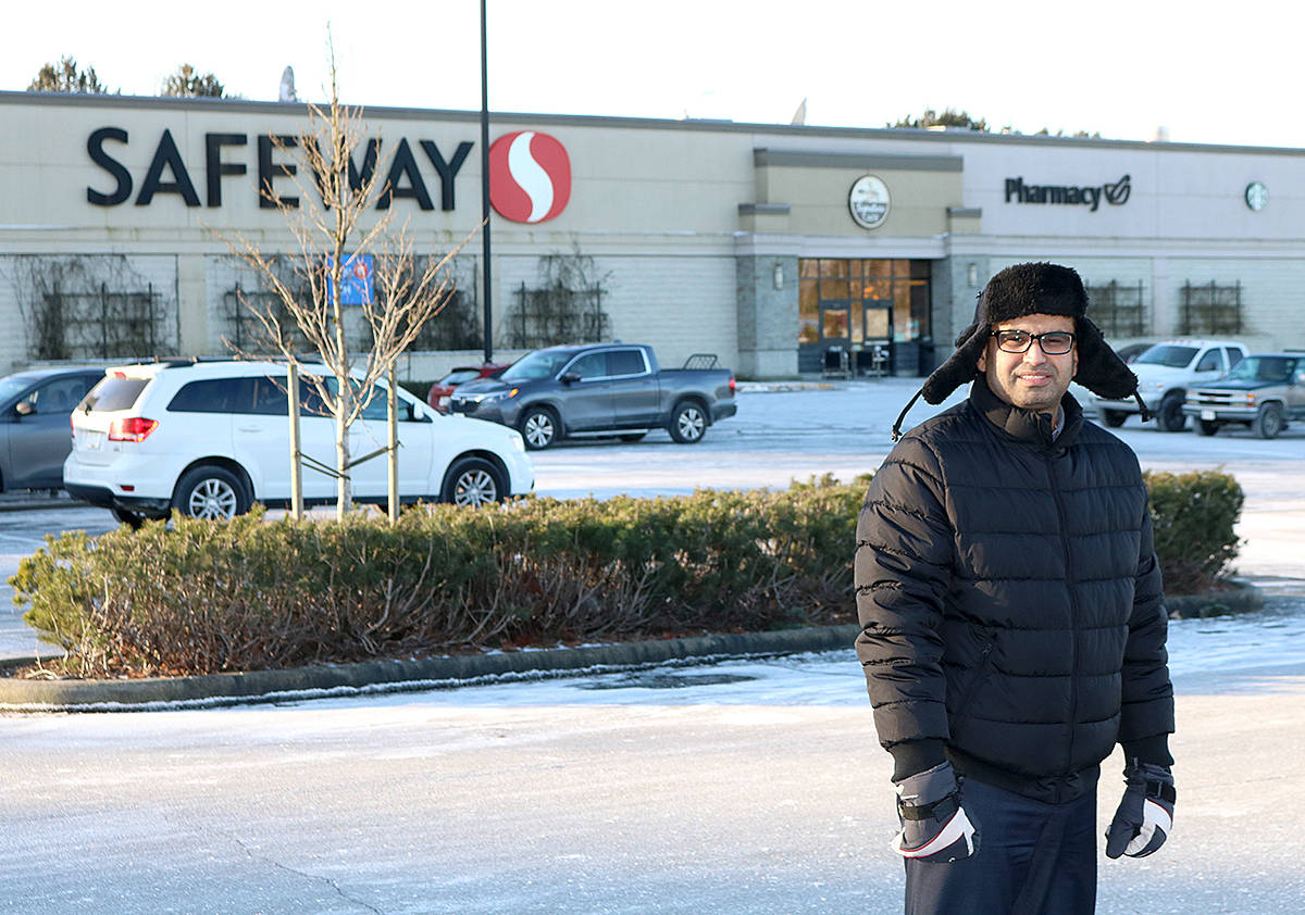 Customers such as Ramen Toor are wondering how the temporary closure and rebranding of the Aldergrove Safeway store will affect them. (Miranda Fatur/Black Press)