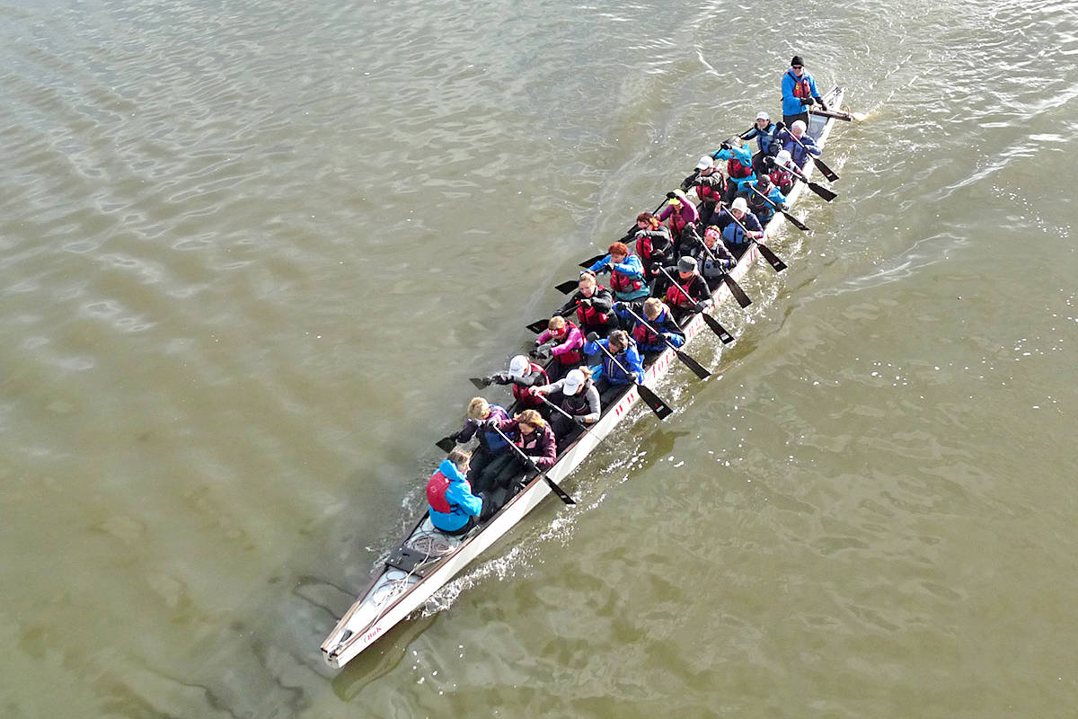 A team of 60-plus dragon boat racers based in Langley was named best team in B.C. Black Press Media photo