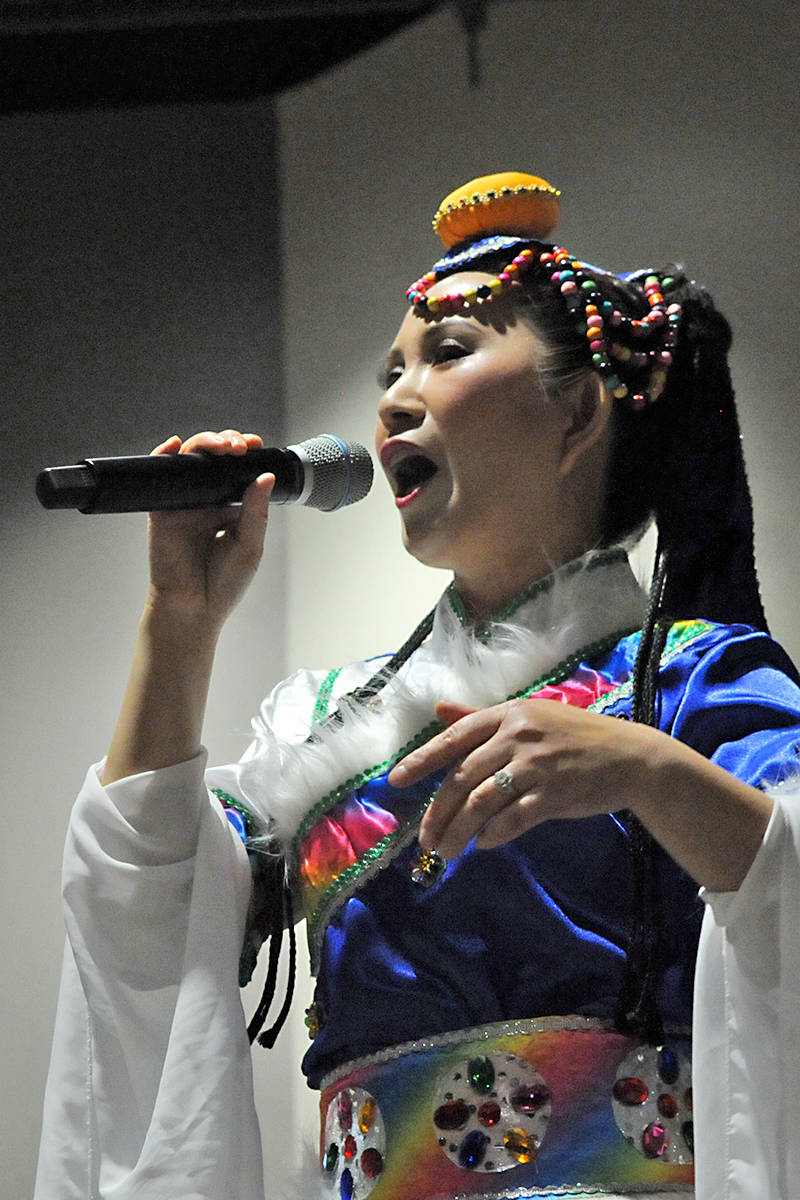 Langley resident Sherry Guo performed a traditional song in traditional costume. Black Press Media photo