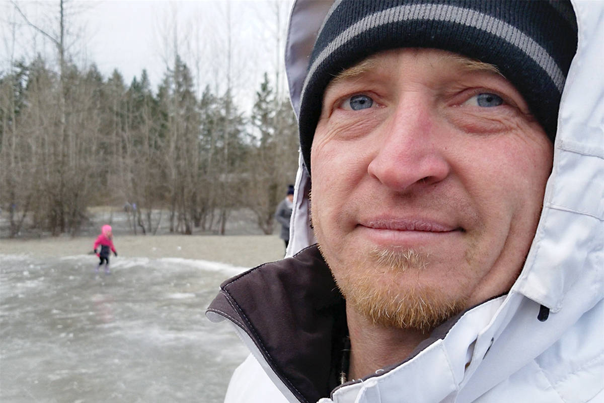 Jordan Myrol said Langley families have been coming to Dale Ball Passive Park to skate and hold a barbecue for the last four years. He said they do not agree with a recently-imposed Township ban on pond skating. Black Press Media photo