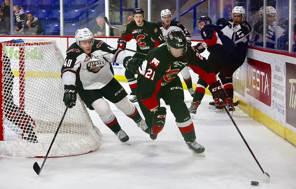 Giants earned a 4-1 victory over the Prince George Cougars at Langley Events Centre Sunday afternoon. (Rik Fedyck/Vancouver Giants)