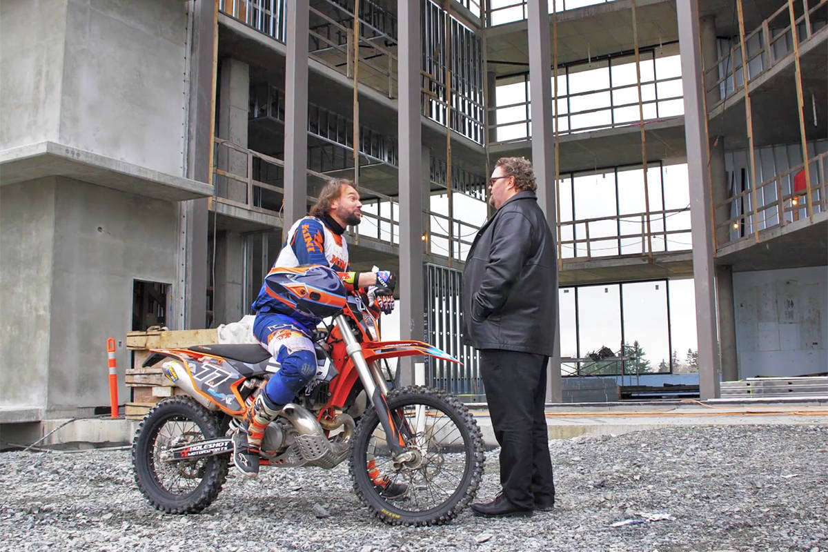 VIDEO: Taking a motorcycle tour of a new type of Langley office building
