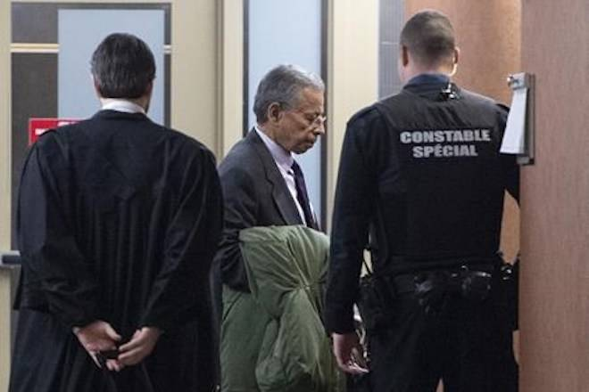 Former SNC-Lavalin vice-president Sami Bebawi enters a courtroom in Montreal on Friday, February 15, 2019. THE CANADIAN PRESS/Paul Chiasson